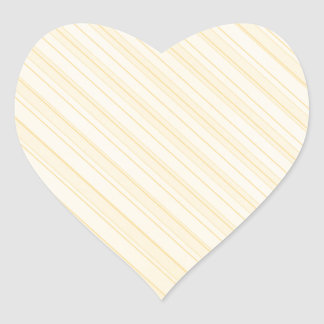 yellow diagonal stripes heart sticker