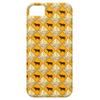yellow diamond cattle sign case iPhone 5 cover