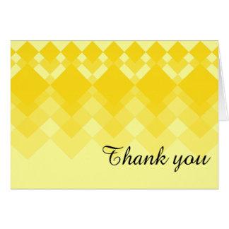 Yellow Diamond Design Note Card