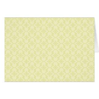 Yellow Diamond Floral Card