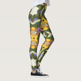 Yellow Diamond Geometric Leggings