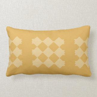 Yellow Diamond, Gold Background Throw Cushions
