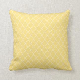 Yellow Diamond Pattern Pillow Cushion