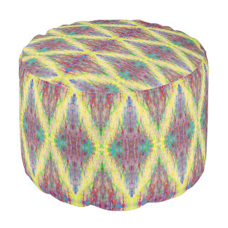 yellow diamond pouf