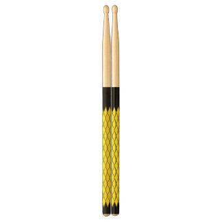 Yellow Diamond Shapes Drumsticks