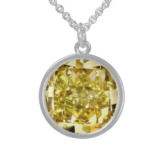 Yellow Diamond Sterling Silver Necklace