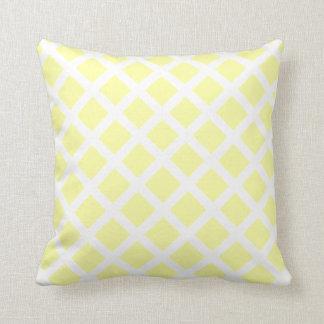 Yellow Diamond Throw Pillow Cushion