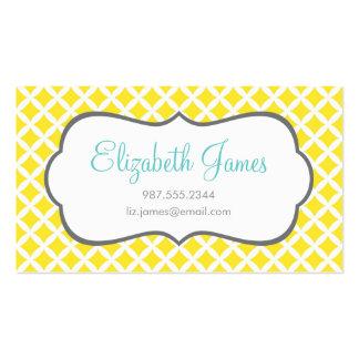 Yellow Diamonds Business Card Template