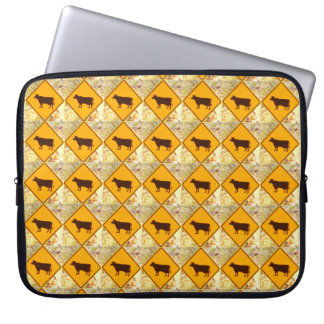yellow diamonds cattle sign case computer sleeves
