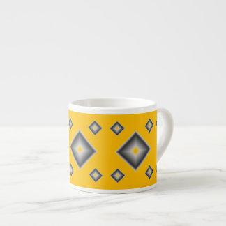 Yellow Diamonds Espresso Mug by Janz