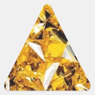 Yellow Diamonds Triangle Sticker