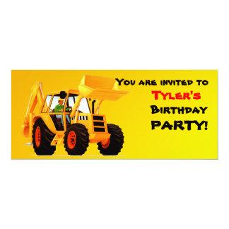Yellow Digger 10 Cm X 24 Cm Invitation Card