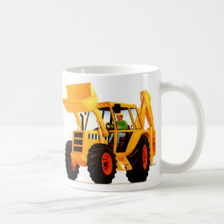 Yellow Digger Basic White Mug
