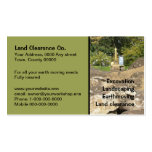 Yellow digger behind rocks pack of standard business cards