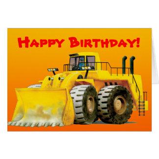 Yellow Digger Custom Greeting Card