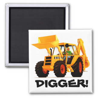 Yellow Digger Refrigerator Magnet