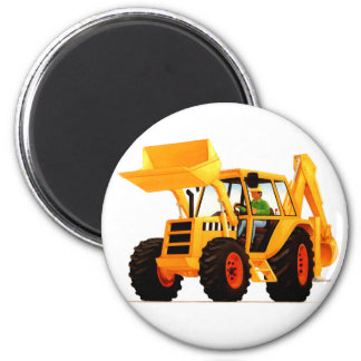 Yellow Digger Refrigerator Magnets