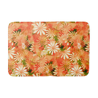 Yellow Digital Daisies Bath Mats