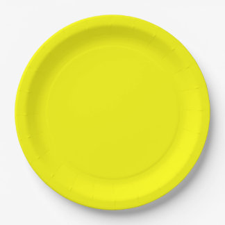 Yellow Dinner Paper Plate