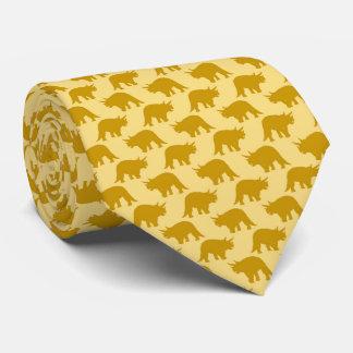 Yellow Dinosaur Cute Pattern Necktie