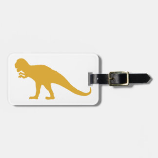 Yellow Dinosaur Luggage Tag