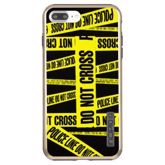 Yellow Do Not Cross Crime Scene Tape Danger Areas Incipio DualPro Shine iPhone 7 Plus Case