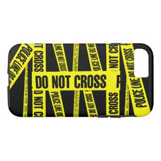 Yellow Do Not Cross Crime Scene Tape Danger Areas iPhone 8/7 Case