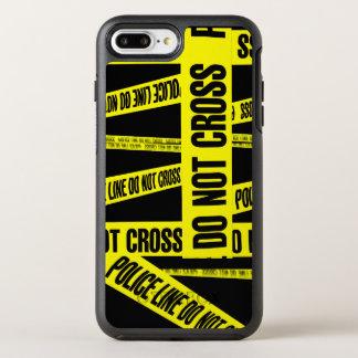 Yellow Do Not Cross Crime Scene Tape Danger Areas OtterBox Symmetry iPhone 7 Plus Case