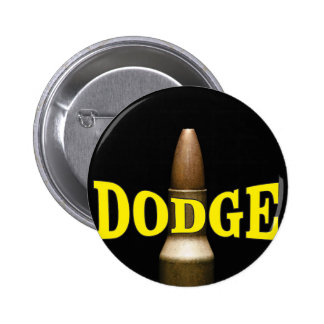 yellow dodge bullet baby 6 cm round badge