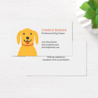 Yellow Dog Pet Care | Dog Walker | Dog Trainer Business Card