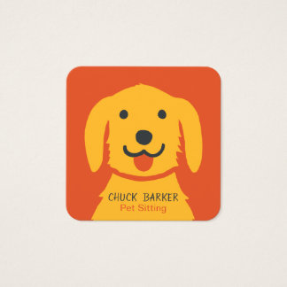Yellow Dog Pet Care | Dog Walker | Square Square Business Card