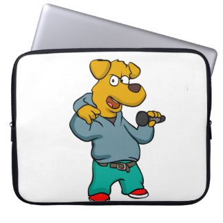 Yellow dog rapper laptop sleeve