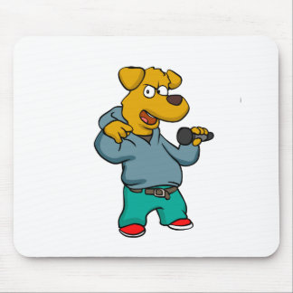Yellow dog rapper mouse pad