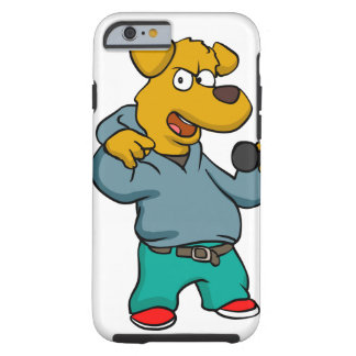 Yellow dog rapper tough iPhone 6 case