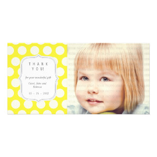 Yellow Dots - Any Occasion Thank you Photo Card Template