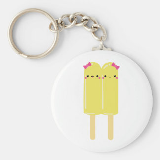 Yellow Double Popsicle Key Ring