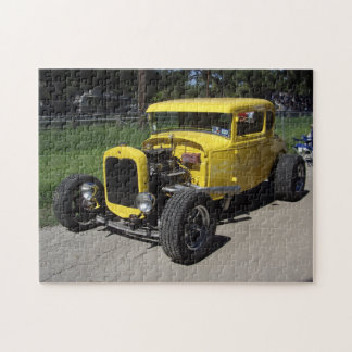 Yellow Drag Racer Jigsaw Puzzle