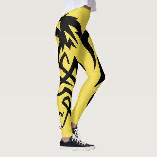 Yellow Dragon Tail Leggings