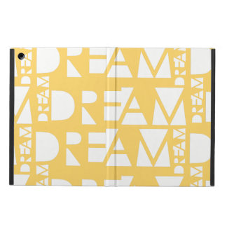 Yellow Dream Geometric Cutout Design iPad Air Cover