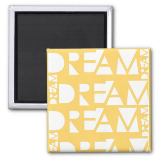 Yellow Dream Geometric Cutout Design Magnet