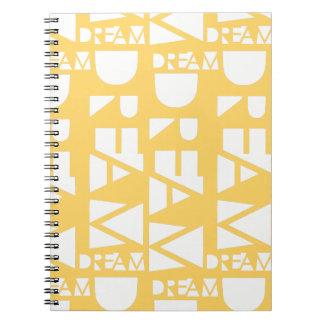 Yellow Dream Geometric Cutout Design Notebook
