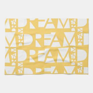 Yellow Dream Geometric Cutout Design Tea Towel