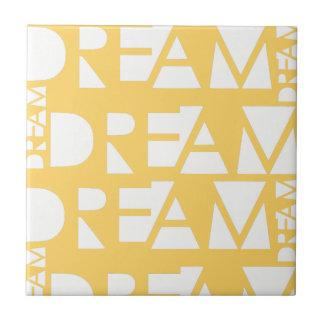 Yellow Dream Geometric Cutout Design Tile
