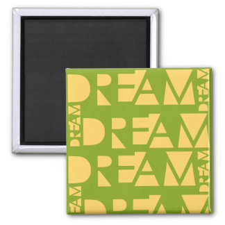 Yellow Dream Geometric Shaped Letters Magnet