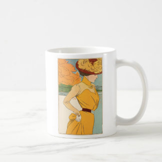 Yellow Dress Basic White Mug