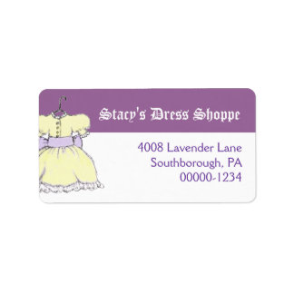 Yellow Dress Business Custom Address Label
