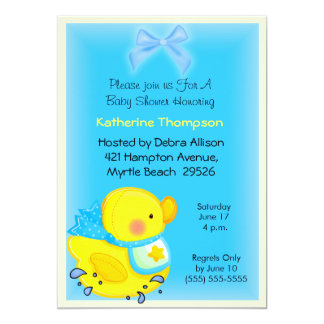 Yellow Duck  Baby  Shower Invitation