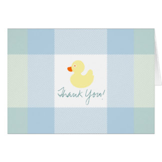 Yellow Duck Baby Thank You Note Card