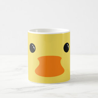 Yellow Duck Cute Animal Face Design Coffee Mug