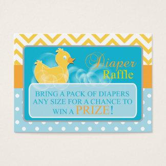 Yellow Duck Diaper Raffle Tickets-Neutral Gender Business Card